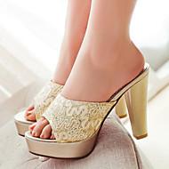 Women's Shoes  Stiletto Heel Heels / Peep Toe Slippers Dress / Casual Black / Silver / Gold