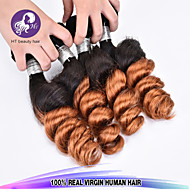 """New Arrival 3 Pcs/Lot 12""""-24"""" Brazilian Virgin Hair Loose Wave Ombre Hair Color 1b/30 Unprocessed Raw Human Hair Weaves"""