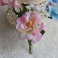 Brudebuketter Friform Liljer Boutonnieres Bryllup / Fest & Aften Rosa / Lyserød / Hvid / Champagne / Fersken Polyester / Satin