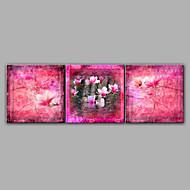 Diseño de la pintura hecha a mano de flores de pintura al óleo 3 juegos