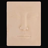 basekey 5st x 3d ansikte makeup och tatuering falska hud för tatuering praktiken 22 x 16cm