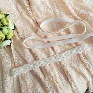 Szatén Esküvő / Party/estély / Hétköznapi Ablakszárny-Kövekkel / Rátétekkel / Gyöngyökkel Női 98 ½ hüvelyk (250 cm)Kövekkel / Rátétekkel