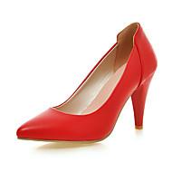 Women's Shoes Leatherette Stiletto Heel Heels Heels Casual Black / Red / White