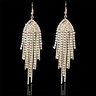 Women's Elegant Luxury Style Alloy Diamond Tassel Earrings