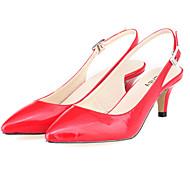נעלי נשים - סנדלים - דמוי עור - עקבים / שפיץ - שחור / כחול / צהוב / ירוק / ורוד / סגול / אדום / כתום / אדום כהה / חרדל -משרד ועבודה /