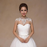 Wedding  Wraps Collars Sleeveless Lace Ivory Wedding
