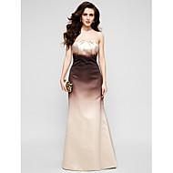 TS couture® 공식적인 저녁 드레스 - 컬러 그라데이션 트럼펫 / 인어 끈이 바닥 길이 새틴