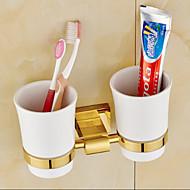歯ブラシホルダー / 浴室小物 Ti-PVD ウォールマウント 23cm*8cm*12cm(9*3.1*4.7inch) 真鍮 ネオクラシック