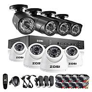 ZOSI®8Ch HDMI 960H DVR 1TB HDD 8 pcs 1000TVL IR Outdoor CCTV Camera Surveillance Security System