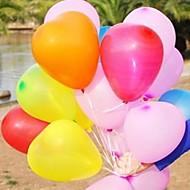 10-pakning hjerteformet ballong bryllup ballong utskrift av fotografier gifte mote ballong kjærlighet ballong (tilfeldig farge)