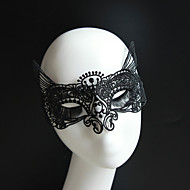 Gothic Style Black Lace Mask Cat Queen for Wedding Party