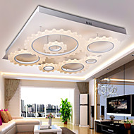 Flush Mount ,  Modern/Contemporary Silver Feature for LED Metal Living Room Bedroom