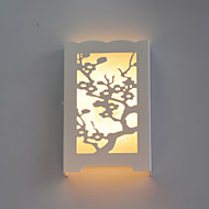 15*24*4.5CM  6 W White Led The Plum Flower Wall Lamp Of Carve Patterns Or Designs On Woodwork Led Lights
