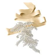 Satin Wedding / Party/ Evening / Dailywear Sash - Sequins / Beading / Appliques / Rhinestone Women's Sashes