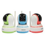 hosafe 1mw20 CMOS 1.0MP alarme de segurança casa câmera IP sem fio w / cartão / tf 10-IR LED / free porta contato