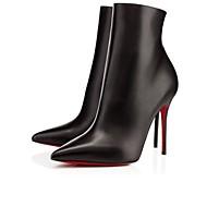 נעלי נשים - מגפיים - דמוי עור - עקבים / מגפונים / שפיץ / מגפי אופנה - שחור / לבן - קז'ואל / מסיבה וערב / שמלה - עקב סטילטו