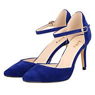 Mujer-Tacón Stiletto-Tacones / PuntiagudosVestido / Casual / Fiesta y Noche-Tejido-Negro / Azul / Amarillo / Morado / Rojo / Blanco /