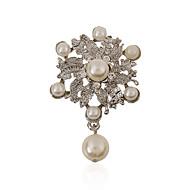 Imitation Pearls / Alloy / Rhinestone Brooch /Women Wreath brooch Wedding / Party 1pc