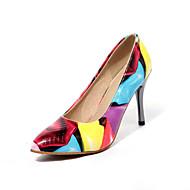 Women's Shoes PVC / Leatherette Stiletto Heel Heels Heels Wedding / Office & Career / Dress / Casual Black / Yellow