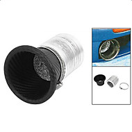 Hot selling free shipping car air funnel Carbon Fiber Air Intake Exhaust Pipe Air inlet The air outlet