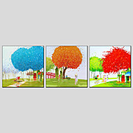 Oil Painting Modern Landscape  Canvas Material with Stretched Frame Ready To Hang Size 70*70*3PCS