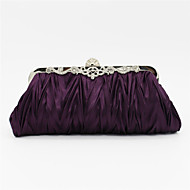 Women Satin Event/Party / Wedding Evening Bag Beige / Pink / Purple / Blue / Gold / Silver / Black