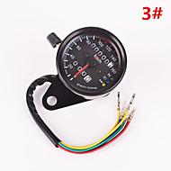 iztoss Motorraddoppelentfernungsmesser Manometer LED-Backlight-Signalleuchte