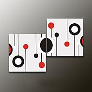 handbemalte abstrakte moderne Ölgemälde, Segeltuch zwei Platten