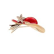 Fashion Women Cute Stone Set Red Hat Enamel Metal Brooch