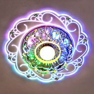 20*12CM Crystal Ceiling Lamp Spotlight LED SMD 3W Creative Lamp Tube Light Colorful Color  Dome Light