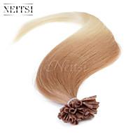 """neitsi 20 """"25s 1g / s fusione cheratina u chiodo estensioni dei capelli di punta dritto ombre umane t27-60"""