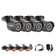 annke® IR CMOS verkliga 800tvl CCTV-kamera HD infraröd övervakningskamera inomhus / outdoorsecurity bullet kamera 4st