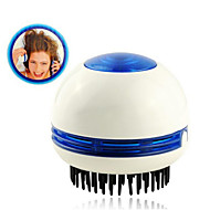 mini cirkulære elektriske vibrerende massage hår kam med at absorbere skæl (2 * aa)