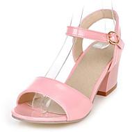 נעלי נשים - סנדלים - דמוי עור - שפיץ ושני חלקים / פתוח - שחור / ירוק / ורוד / לבן / בז' - שמלה / קז'ואל - עקב עבה