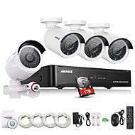 annke® réseau IP 4 canaux HDMI NVR poe kit de système de caméra de sécurité 960p CCTV extérieure avec 1 To