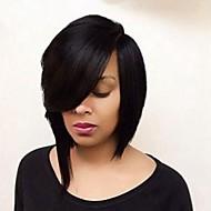 ברזילאי בתולת שיער אדם שיער בוב פאת glueless עבור נשים שחורות חזית תחרה קצרה לחתוך פאות שיער אדם