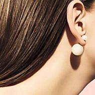 Double Pearl Ball Stud Earrings