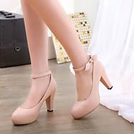 Women's Shoes Heel Heels / Platform / Round Toe Heels Office & Career / Dress / Casual Blue / Pink / Purple /666-9