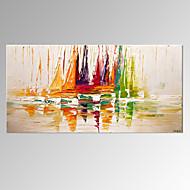 visuelle bateau star®abstract sur la peinture à la main de la mer moderne art mural paysage prêt à accrocher