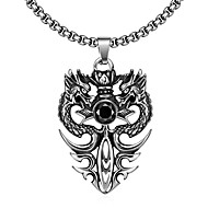 Ssangyong Restoring Ancient Ways is Exaggerated Men Titanium Steel Pendant Necklace Christmas Gifts