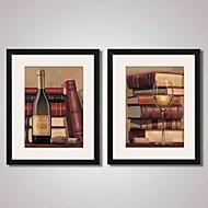 Abstrato / Natureza Morta / Feriado / Lazer / Comida/Bebida Impressão de Arte Emoldurada / Quadros Emoldurados / Conjunto EmolduradoWall