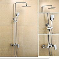 YOODOO®New Design Contemporary Chrome Finished 8 Inch In Wall Shower Set with Shower Head and Hand Shower