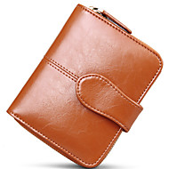 Women Cowhide Bi-fold Clutch / Wallet / Card & ID Holder / Coin Purse / Business Card Holder
