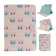 tegneserie kat farvede tegning eller mønster pu læder folio taske tablet hylster til iPad mini4 Mini3 / 2/1