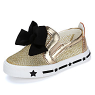 Baby Shoes Wedding / Outdoor / Dress / Casual Tulle Flats Black / Silver / Gold