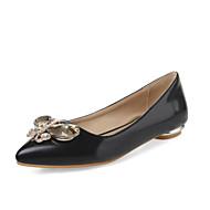 נעלי נשים - שטוחות - דמוי עור - שפיץ - שחור / אדום / בז' - משרד ועבודה / שמלה / קז'ואל - עקב שטוח