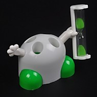 minuten zandloper timer tandenborstelhouder rek staan leuke badkamer tool voor het toezicht op kinderen (willekeurige kleur)