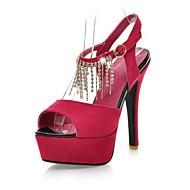 Dámské - Svatební obuv - S otevřenou špičkou / Platformy - Sandály - Svatba / Šaty / Party - Černá / Modrá / Červená