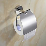 """Tilbehørssæt til badeværelset / Toiletrulleholder Spejlpoleret Vægmonteret W15.9cm xL9cm xH14cm(W6"""" xL4"""" xH6"""") Rustfrit stål Moderne"""