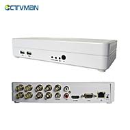 ctvman DVR CCTV gravador de vídeo de segurança suporte digital híbrido completo d1 ONVIF NVR HVR 960H 8ch HDMI nuvem de 8 canais